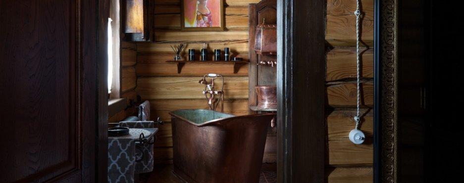 Медная антикварная ванна.